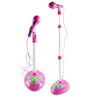 TAIJIAHANG 1180A Magic Stand Joyful Microphone Toy with LED light Educational Toy Height adjust-able Built-in 6 Songs with Light