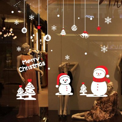 Christmas Small Snowman Design Wall Stickers