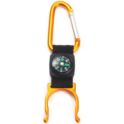 Carabiner + Compass + Water Bottle BuckleCarabiner<br>Carabiner + Compass + Water Bottle Buckle<br><br>Best Use: Mountaineering, Hiking, Backpacking<br>Tensile Load: 2kg<br>Product Weight: 0.017 kg<br>Package Weight: 0.110 kg<br>Product Dimension: 12.5 x 3.0 x 0.5 cm / 4.91 x 1.18 x 0.20 inches<br>Package Dimension: 13 x 6.4 x 1.3 cm / 5.11 x 2.52 x 0.51 inches<br>Package Contents: 5 x Multi-purpose Carabiner