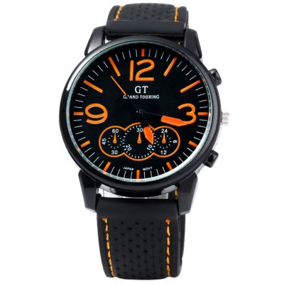GT Japan Quartz Watch with Rubber Band for Men