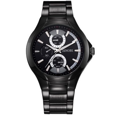 SINOBI 2648 Japan Movt Men Quartz Watch with Alloy Band - SinobiMens Watches<br>SINOBI 2648 Japan Movt Men Quartz Watch with Alloy Band<br><br>Brand: Sinobi<br>Watches categories: Male table<br>Watch style: Fashion<br>Available color: Coffee, Black, White<br>Movement type: Quartz watch<br>Shape of the dial: Round<br>Display type: Analog<br>Case material: Alloy<br>Band material: Alloys<br>Clasp type: Folding clasp with safety<br>Special features: Decorating small sub-dials<br>The dial thickness: 1.2 cm / 0.47 inches<br>The dial diameter: 4.2 cm / .65 inches<br>The band width: 2.0 cm / 0.79 inches<br>Product weight: 0.119 kg<br>Package weight: 0.169 kg<br>Product size (L x W x H): 23 x 4.2 x 1.2 cm / 9.04 x 1.65 x 0.47 inches<br>Package size (L x W x H): 24 x 5.2 x 2.2 cm / 9.43 x 2.04 x 0.86 inches<br>Package contents: 1 x SINOBI 2648 Watch