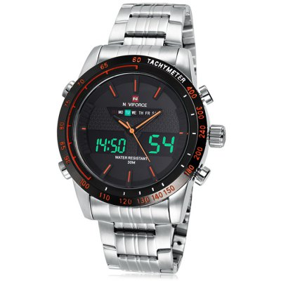 Naviforce 3681 Men LED Dual Movt Sports Watch