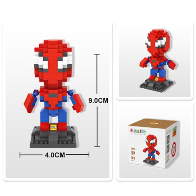LOZ 240Pcs L - 9456 Superhero Spiderman Building Block Toy for Enhancing Social Cooperation Ability
