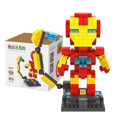 LOZ 250Pcs L - 9447 The Avengers Iron Man Building Block Toy for Enhancing Social Cooperation Ability