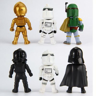 Set of 6Pcs Star Wars Soldiers Characteristic Figure Light Action ModelMovies &amp; TV  Dolls<br>Set of 6Pcs Star Wars Soldiers Characteristic Figure Light Action Model<br><br>Age: over 15 years old<br>Material: PVC<br>Feature Type: European and American<br>Figure Height: Approx. 9~10 cm<br>Package Weight   : 0.478 kg<br>Package Size (L x W x H)  : 15.5 x 16.3 x 12 cm / 6.09 x 6.41 x 4.72 inches<br>Package Contents: 6 x Figure Model