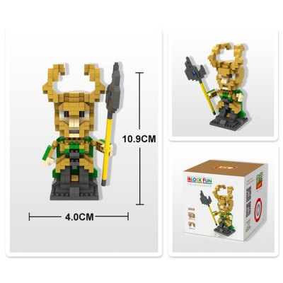 LOZ 350Pcs L - 9449 The Avengers Loki Building Block Toy for Improving Social Cooperation AbilityBlock Toys<br>LOZ 350Pcs L - 9449 The Avengers Loki Building Block Toy for Improving Social Cooperation Ability<br><br>Product Model: L - 9449<br>Type: Building Blocks<br>Age: 14 Years+<br>Material: ABS<br>Product prototype: The Avengers<br>Character Name: Loki<br>Design Style: Figure Statue<br>Features: DIY<br>Puzzle Style: 3D Puzzle<br>Small Parts : Yes<br>Washing : Yes<br>Applicable gender: Unisex<br>Package Weight   : 0.08 kg<br>Package Size (L x W x H)  : 8.5 x 8.5 x 8.5 cm / 3.34 x 3.34 x 3.34 inches<br>Package Contents: 350 x Module, 1 x User Manual