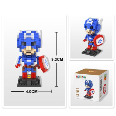 LOZ 310Pcs L - 9452 The Avengers Captain America Building Block Toy for Enhancing Social Cooperation Ability