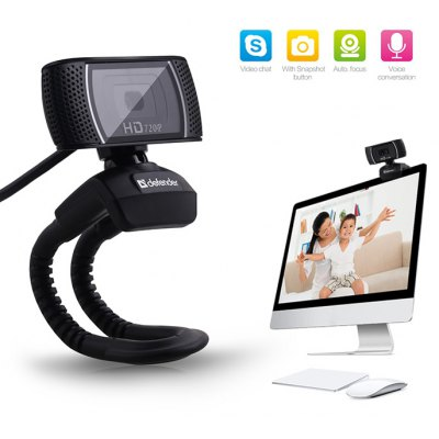 Defender 360 Degree Rotatable 2MP HD Webcam Clip-on Web PC Camera