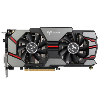 COLORFUL iGame970 U-4GD5 4GB Graphics CardGraphics &amp; Video Cards<br>COLORFUL iGame970 U-4GD5 4GB Graphics Card<br><br>Brand: Colorful<br>Model: iGame970 U-4GD5<br>Type: Graphic/Video Cards<br>Display Core : GM204<br>Stream Processor: 1664<br>Core Frequency: 1051 / 1127MHz<br>Video Memory Frequency: 7010MHz<br>Video Memory Capacity: 4GB<br>Video Memory Type: GDDR5<br>Video Memory Bit Wide: 256Bit<br>Bus Interface Type: PCI-Express 3.0<br>Power Interface : 6Pin<br>Interface: DVI, DP, HDMI<br>HDMI: Yes<br>DVI: Yes<br>Product Weight: 1.650 kg<br>Package Weight: 2.65 kg<br>Product Size: 30 x 12 x 5 cm / 11.79 x 4.72 x 1.97 inches<br>Package Size: 31.5 x 13 x 6.5 cm / 12.38 x 5.11 x 2.55 inches<br>Package Contents: 1 x COLORFUL iGame970 U-4GD5 Graphics Card, 1 x Driver Disk, 2 x 6Pin Power Supply Cable