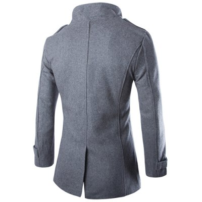 Multi-Button Patch Pocket Zipper Epaulet Design Stand Collar Long Sleeves Mens Woolen Blend PeacoatMens Jakets &amp; Coats<br>Multi-Button Patch Pocket Zipper Epaulet Design Stand Collar Long Sleeves Mens Woolen Blend Peacoat<br><br>Clothes Type: Wool &amp; Blends<br>Material: Wool, Cotton<br>Collar: Mandarin Collar<br>Clothing Length: Long<br>Style: Fashion<br>Weight: 1.072KG<br>Sleeve Length: Long Sleeves<br>Season: Winter<br>Package Contents: 1 x Coat
