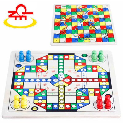QZM 2 in 1 Flight Chess Snake and Ladder Classic Chess Game Toy for Improving Creativity