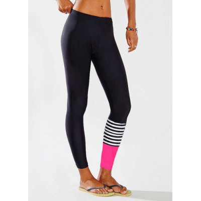 ФОТО Active Elastic Waist Slimming Color Block Women