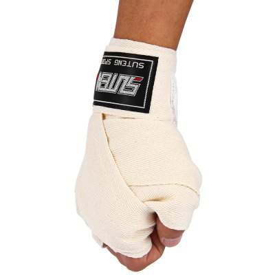 SUTEN 2 PCS Length 2.5M Cotton Punching Fighting Boxing Handwrap Bandage
