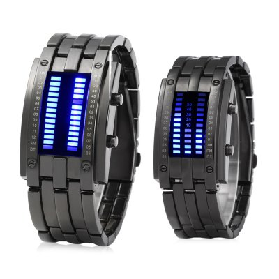 Date Binary Digital LED Bracelet Watch for Lovers with Two ...
