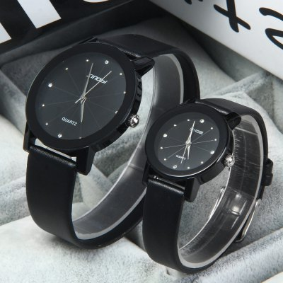SINOBI 981 Rhinestone Leather Analog Couple Quartz WatchCouples Watches<br>SINOBI 981 Rhinestone Leather Analog Couple Quartz Watch<br><br>Watches categories: Couple tables<br>Watch style: Fashion<br>Style elements: Diamond<br>Available color: White, Black<br>Shape of the dial: Round<br>Movement type: Quartz watch<br>Display type: Analog<br>Case material: Stainless steel<br>Band material: Leather<br>Clasp type: Pin buckle<br>Water resistance: 20 meters<br>Package weight: 0.129 kg<br>Package size (L x W x H): 26.3 x 8.8 x 2.7 cm / 10.34 x 3.46 x 1.06 inches<br>The male dial dimension (L x W x H): 4 x 4 x 0.7 cm / 1.57 x 1.57 x 0.28 inches<br>The male watch band dimension (L x W): 20.3 x 1.9 cm / 7.99 x 0.75 inches<br>The male watch weight: 0.036 kg<br>The male watch size (L x W x H): 24.3 x 4 x 0.7 cm / 9.55 x 1.57 x 0.28 inches<br>The female dial dimension (L x W x H): 2.8 x 2.8 x 0.7 / 1.10 x 1.10 x 0.28 inches<br>The female watch band dimension (L x W): 18 x 1.3 cm / 7.09 x 0.51 inches<br>The female watch weight: 0.023 kg<br>The female size (L x W x H): 21.1 x 2.8 x 0.7 cm / 8.29 x 1.10 x 0.28 inches<br>Package contents: 1 x SINOBI 981 Rhinestone Couple Quartz Watch