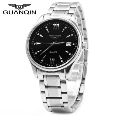 GUANQIN Men Calendar Luminous Quartz Watch