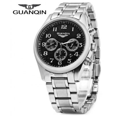 GUANQIN Men Calendar Quartz Watch