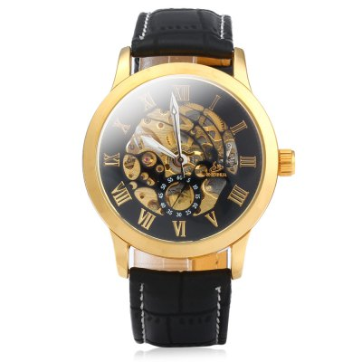 SHENHUA 9269 Men Hollow Automatic Mechanical Watch with Leather StrapMechanical Watches<br>SHENHUA 9269 Men Hollow Automatic Mechanical Watch with Leather Strap<br><br>Watches categories: Male table<br>Watch style: Hollow-out<br>Style elements: Hollow out<br>Movement type: Automatic mechanical watch<br>Shape of the dial: Round<br>Display type: Analog<br>The bottom of the table: Gone<br>Case material: Stainless steel<br>Case color: Gold, Silver<br>Band material: Leather<br>Clasp type: Pin buckle<br>Band color: Black, Brown<br>Special features: Luminous, Decorating small sub-dials<br>The dial thickness: 1.2 cm /  0.47 inches<br>The dial diameter: 4.1 cm / 1.61 inches<br>The band width: 2.1 cm / 0.83 inches<br>Wearable length: 19.5 - 23.5 cm / 7.68 - 9.25 inches<br>Product weight: 0.079 kg<br>Package weight: 0.149 kg<br>Product size (L x W x H): 25.5 x 4.1 x 1.2 cm / 10.02 x 1.61 x 0.47 inches<br>Package size (L x W x H): 27.5 x 6.1 x 3.2 cm / 10.81 x 2.40 x 1.26 inches<br>Package contents: 1 x SHENHUA 9269 Men Hollow Automatic Mechanical Watch