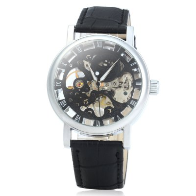 SEWOR Men Hollow Mechanical Watch with Leather StrapMechanical Watches<br>SEWOR Men Hollow Mechanical Watch with Leather Strap<br><br>Watches categories: Male table<br>Watch style: Hollow-out<br>Style elements: Hollow out<br>Movement type: Mechanical watch<br>Shape of the dial: Round<br>Display type: Analog<br>The bottom of the table: Gone<br>Case material: Stainless steel<br>Case color: Silver, Gold<br>Band material: Leather<br>Clasp type: Pin buckle<br>Band color: Brown, Black<br>Special features: Luminous<br>The dial thickness: 1 cm /  0.39 inches<br>The dial diameter: 3.8 cm / 1.50 inches<br>The band width: 1.9 cm / 0.75 inches<br>Wearable length: 19 - 23 cm / 7.48 - 9.06 inches<br>Product weight: 0.049 kg<br>Package weight: 0.119 kg<br>Product size (L x W x H): 25 x 3.8 x 1 cm / 9.83 x 1.49 x 0.39 inches<br>Package size (L x W x H): 27 x 5.8 x 3 cm / 10.61 x 2.28 x 1.18 inches<br>Package contents: 1 x SEWOR Men Hollow Mechanical Watch