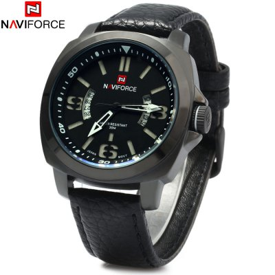 NAVIFORCE 9062 Men Leather Quartz Watch