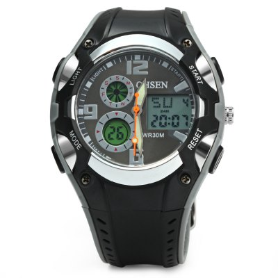OHSEN AD1309 Men Sports Digital Watch - OHSENSports Watches<br>OHSEN AD1309 Men Sports Digital Watch<br><br>Brand: OHSEN<br>People: Male table<br>Watch style: Outdoor Sports, LED<br>Available color: Black, White, Red, Yellow<br>Shape of the dial: Round<br>Movement type: Double-movtz<br>Display type: Analog-Digital<br>Hour formats: 12/24 Hour<br>Case material: Stainless Steel<br>Band material: Rubber<br>Clasp type: Pin buckle<br>Special features: Luminous, Day, EL Back-light, Date, 12/24 hours switch, Week, Working small sub-dials, Alarm clock, Stopwatch<br>Water resistance: 30 meters<br>The dial thickness: 1.5 cm / 0.59 inches<br>The dial diameter: 4 cm / 1.57 inches<br>The band width: 2 cm / 0.79 inches<br>Wearable length: 16 - 21.5 cm / 6.30 - 8.46 inches<br>The bracelet inner diameter: 3 cm / 1.18 inches<br>Product weight: 0.047 kg<br>Package weight: 0.117 kg<br>Product size (L x W x H) : 24 x 4 x 1.5 cm / 9.43 x 1.57 x 0.59 inches<br>Package size (L x W x H): 25 x 5 x 2.5 cm / 9.83 x 1.97 x 0.98 inches<br>Package contents: 1 x OHSEN AD1309 Men Sports Digital Watch