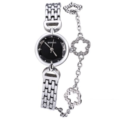 WeiQin 2613 Flower Pendant Bracelet Female Quartz Watch with Pearl Shell Dial - WeiQinWomens Watches<br>WeiQin 2613 Flower Pendant Bracelet Female Quartz Watch with Pearl Shell Dial<br><br>Watches categories: Female table<br>Style: Bracelet<br>Movement type: Quartz watch<br>Shape of the dial: Round<br>Display type: Analog<br>Case material: Alloy<br>Band material: Alloys<br>Clasp type: Sheet folding clasp<br>Water resistance : Life water resistant<br>The dial thickness: 0.7 cm / 0.28 inches<br>The dial diameter: 2 cm / 0.79 inches<br>The band width: 1 cm / 0.39 inches<br>Product weight: 0.037 kg<br>Package weight: 0.107 kg<br>Product size (L x W x H) : 20.5 x 2 x 0.7 cm / 8.06 x 0.79 x 0.28 inches<br>Package size (L x W x H): 22.5 x 4 x 2.7 cm / 8.84 x 1.57 x 1.06 inches<br>Package contents: 1 x WeiQin 2613 Ladies Pendant Bracelet Quartz Watch