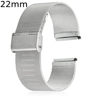 22mm Stainless Steel Mesh Watch Strap