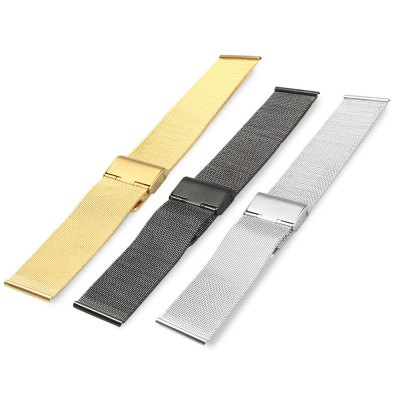 Фотография 24mm Stainless Steel Mesh Watch Strap Folding Clasp with Safety