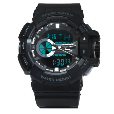 SKMEI 1117 Men Sports Double Movt WatchSports Watches<br>SKMEI 1117 Men Sports Double Movt Watch<br><br>Brand: Skmei<br>Watches categories: Male table<br>Watch style: Trends in outdoor sports<br>Style elements: Big dial<br>Available color: Red,Blue,Gray<br>Movement type: Quartz + digital watch<br>Shape of the dial: The other<br>Display type: Analog-Digital<br>The bottom of the table: Ordinary<br>Case material: PC<br>Case color: Assorted Colors<br>Band material: PU<br>Clasp type: Pin buckle<br>Band color: Black<br>Special features: Alarm Clock,Date,Week,Stopwatch,Luminous,Decorating small sub-dials<br>Water resistance : 50 meters<br>The dial thickness: 1.7 cm / 0.67 inches<br>The dial diameter: 5.2 cm / 2.04 inches<br>The band width: 2.2 cm / 0.86 inches<br>Wearable length: 26.5 - 17.2 cm / 10.4 - 6.7 inches<br>Product weight: 0.060 kg<br>Package weight: 0.093 kg<br>Product size (L x W x H): 26.50 x 5.20 x 1.70 cm / 10.43 x 2.05 x 0.67 inches<br>Package size (L x W x H): 27.50 x 6.00 x 3.00 cm / 10.83 x 2.36 x 1.18 inches<br>Package Contents: 1  ? SKMEI 1117 50M Water Resistant Men Luminous Sports Digital Watch