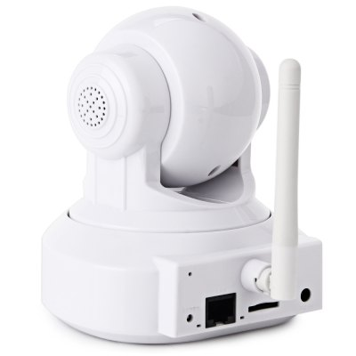 EasyN 176 1.0MP H.264 IR-CUT Wireless IP CameraIP Cameras<br>EasyN 176 1.0MP H.264 IR-CUT Wireless IP Camera<br><br>Brand: EasyN<br>Model  : 176<br>Color: White<br>Shape : Hemispherical Camera<br>Technical Feature : Infrared, Pan/Tilt/Zoom<br>IP camera performance : Night Vision, Motion detection<br>Network Interface: RJ45 10/100MB Ethernet interface<br>Protocol: FTP, DHCP, DNS, HTTP, NTP, UDP, UPNP, SMTP<br>Wireless : IEEE 802.11 b/g/n<br>IP Mode : Dynamic IP address, static IP address<br>Web Browser: Microsoft Internet Explorer 6.0 above, Google Chrome, Other Standard Browser<br>Mobile Access: Android, iPhone OS<br>Alarm Notice: Email Photo, FTP Photo<br>Operating System: Microsoft Windows XP, Microsoft Windows Vista, Microsoft Windows 7<br>Pan/Tilt-Horizontal Angle (degree) : 355 Degrees<br>Pan/Tilt-Vertical Angle (degree) : 120 Degrees<br>Local-storage: Micro SD card up to 32GB<br>Video Compression Format: H.264<br>Image Sensor: CMOS<br>Pixels: 1MP<br>Resolution: 1280 x 720<br>Audio Input: Built-in mic.<br>Audio Output: External speaker<br>Infrared LED: 10<br>Infrared Distance: 10m<br>Exterior Material: Plastic<br>Environment: Indoor<br>Product Weight  : 0.269 kg<br>Package Weight  : 0.64 kg<br>Product Size (L x W x H) : 12.5 x 11 x 10.3 cm / 4.91 x 4.32 x 4.05 inches<br>Package Size (L x W x H)  : 20 x 16 x 11.7 cm / 7.86 x 6.29 x 4.60 inches<br>Package Contents: 1 x EasyN 176 1.0MP CMOS H.264 IR-CUT Wireless IP Camera, 1 x Power Adapter, 4 x Screw, 1 x Screw Cap, 1 x English Manual, 1 x Bracket