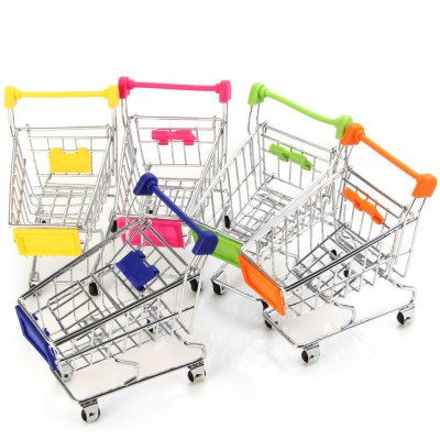 1 Piece Mini Shopping Handcart Supermarket Holder Basket