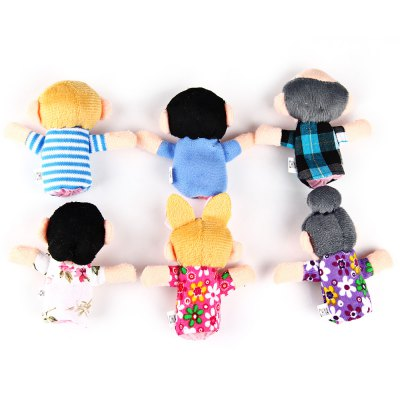 Фотография 6 Pcs Family Educational Finger Puppets Toys