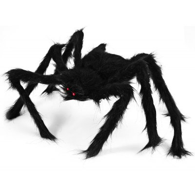Realistic Large Plush Spider Puppet Toy for Halloween
