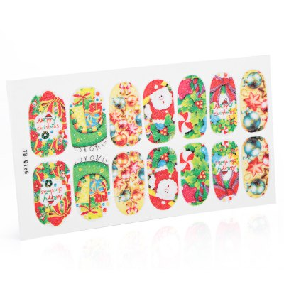12 Color 3D Stereo Christmas Manicure Jewelry Decal Nail Sticker