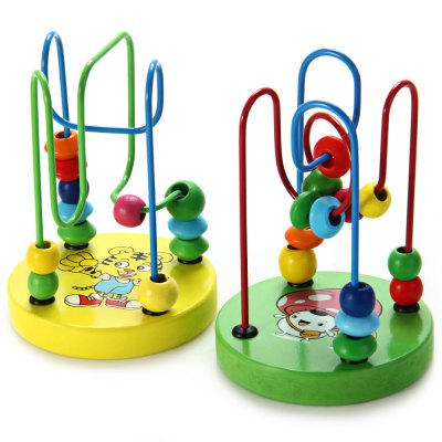 1 Piece Educational Game Baby Wooden Toy Around Beads