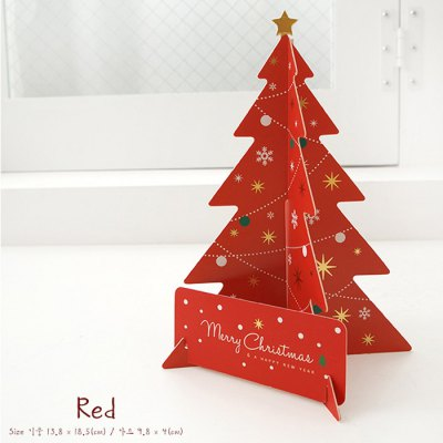 Cute 3D Christmas Tree Design Greeting Card