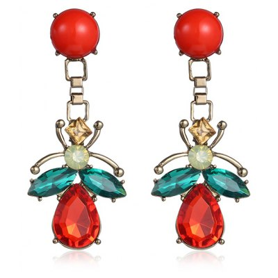 Pair of Insect Shape Drop Earrings
