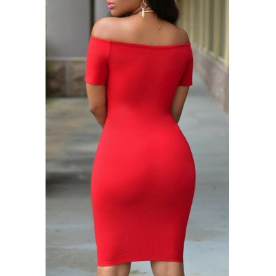 Sexy Off-The-Shoulder Short Sleeve Pure Color Womens DressWomens Dresses<br>Sexy Off-The-Shoulder Short Sleeve Pure Color Womens Dress<br><br>Style: Sexy &amp; Club<br>Material: Polyester<br>Silhouette: Sheath<br>Dresses Length: Knee-Length<br>Neckline: Off The Shoulder<br>Sleeve Length: Short Sleeves<br>Pattern Type: Solid<br>With Belt: No<br>Season: Summer<br>Weight: 0.40KG<br>Package Contents: 1 x Dress