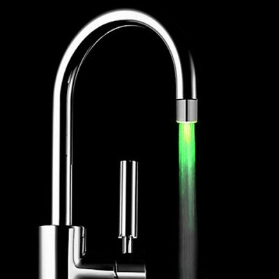 Polished LED Light 3 Colors Glow Temperature Controlled Faucet