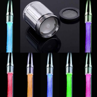 Chic Mini Appearance LED Light 7 Colors Changing Glow Faucet
