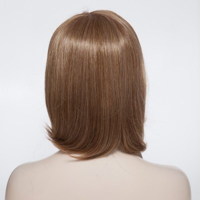 Fashionable Short Straight Synthetic Capless Wig With Side Bang For Women