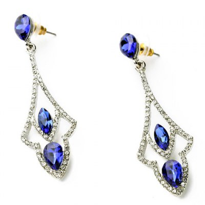 Pair of Stunning Rhinestoned Faux Crystal Oval Hollow Out Earrings For WomenEarrings<br>Pair of Stunning Rhinestoned Faux Crystal Oval Hollow Out Earrings For Women<br><br>Earring Type: Drop Earrings<br>Gender: For Women<br>Style: Trendy<br>Shape/Pattern: Geometric<br>Length: 6.2CM<br>Weight: 0.04KG<br>Package Contents: 1 x Earring (Pair)