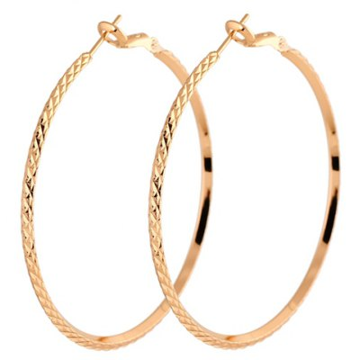 Pair of Simple Style Pure Color Snake Earrings For Women