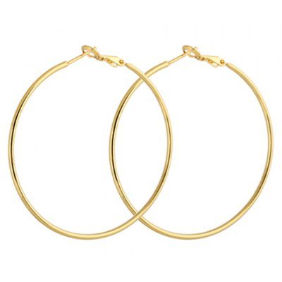 Pair of Simple Style Solid Color Round Earrings For Women