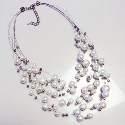 Graceful Layered Faux Pearl Necklace For Women
