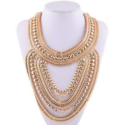 Vintage Gold Plated Hollow Out Necklace