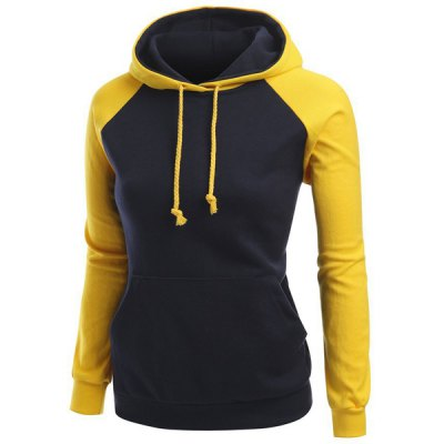 Trendy Hit Color Drawstring Hooded Raglan Pullover Hoodie For WomenWomens Hoodies &amp; Sweatshirts<br>Trendy Hit Color Drawstring Hooded Raglan Pullover Hoodie For Women<br><br>Material: Polyester<br>Clothing Length: Regular<br>Sleeve Length: Full<br>Style: Active<br>Pattern Style: Others<br>Season: Fall<br>Weight: 0.300KG<br>Package Contents: 1 x Hoodie