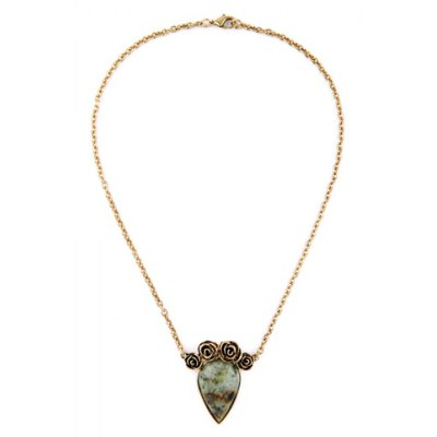Vintage Original Stone Floral Shape Necklace For Women