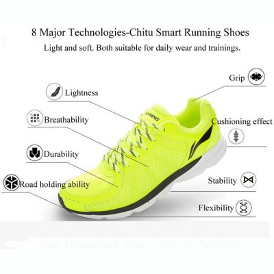 Smart Running Shoes with Bulit-in Xiaomi Mi ChipsShoes<br>Smart Running Shoes with Bulit-in Xiaomi Mi Chips<br><br>Product weight: 0.480 kg<br>Package weight: 0.580 kg<br>Package Size ( L x W x H ): 30.00 x 20.00 x 15.00 cm / 11.81 x 7.87 x 5.91 inches<br>Package Contents: 1 x Pair of Sneakers, 1 x Chip