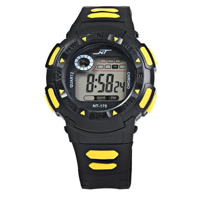 Polit 175 Water Resistant LED Sports Watch with Rubber Strap